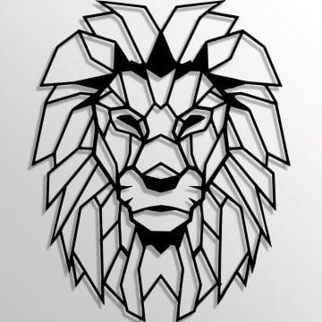 Dekoratif Duvar Metal Tablosu | Aslan