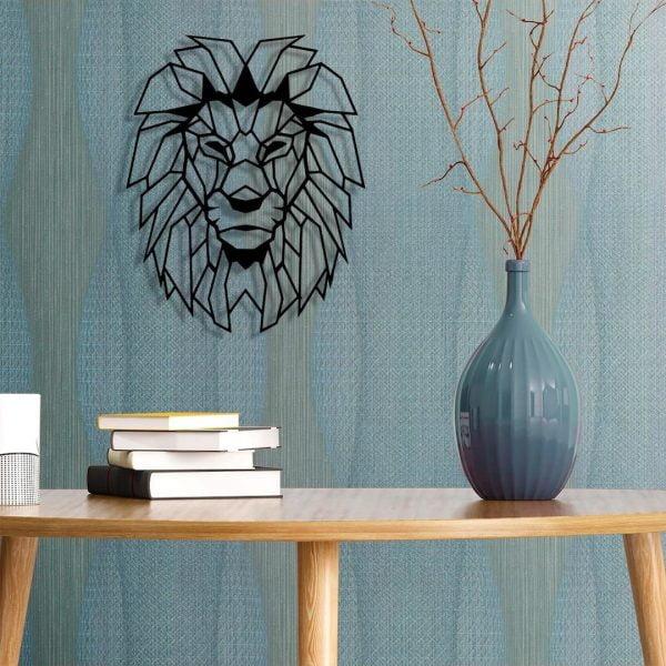 Dekoratif Duvar Metal Tablosu   Aslan