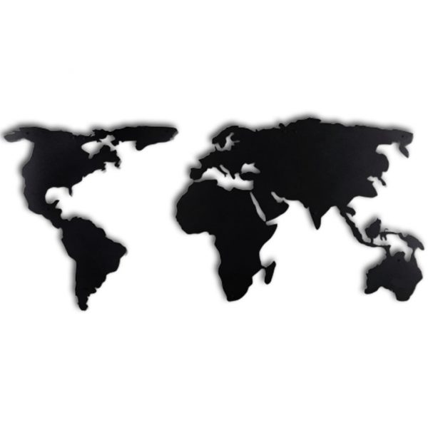 Dekoratif Duvar Metal Tablosu | Dünya Haritası