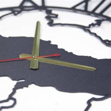 Türkiye Haritası Metal Duvar Saat
