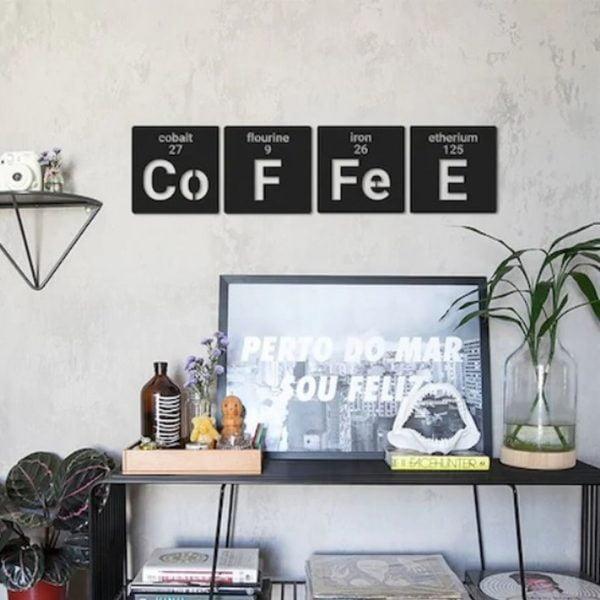 4 lü Coffee Metal Tablo