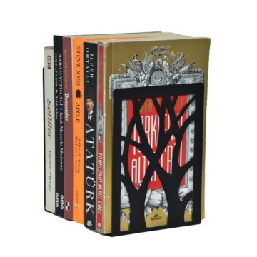 Ağaç Desenli Dekoratif Metal Kitap Tutucu