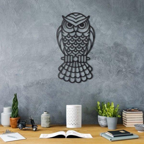 BAYKUŞ (OWL) METAL TABLO