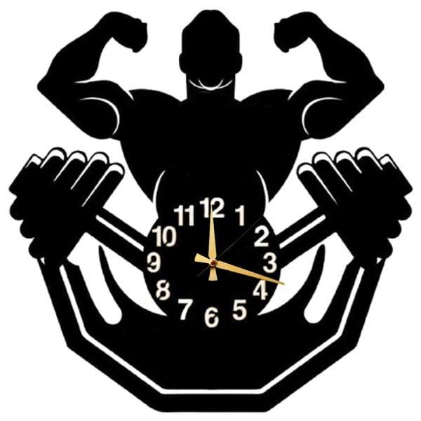 Bodybuilding Dekoratif Metal Duvar Saati T154