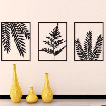 Buğday Yaprağı Metal 3 lü Tablo