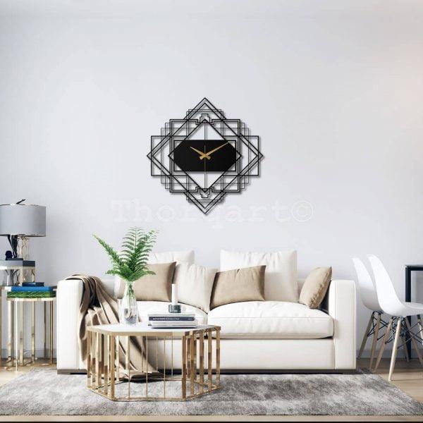 Dekoratif Metal Duvar Saati - Geo