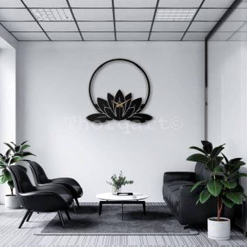 Dekoratif Metal Duvar Saati - Leaf