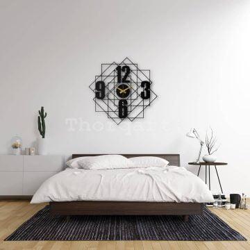 Dekoratif Metal Duvar Saati - Mirror