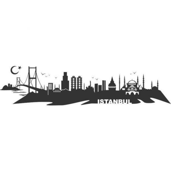 İstanbul Dekoratif Metal Duvar Tablosu