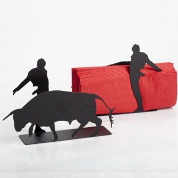 Matador ve Öfkeli Boğa Figürlü Peçetelik