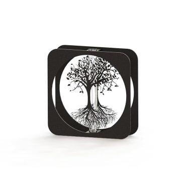 Yaşam Ağacı Metal Vazo – SİYAH